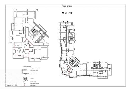 2-комн квартира, 83 м2, 21 этаж