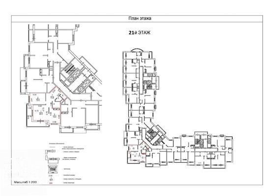 2-комн квартира, 83 м2, 21 этаж - фото 1