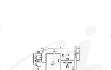 3-комнатная квартира, 49.4 м<sup>2</sup>, 4 этаж