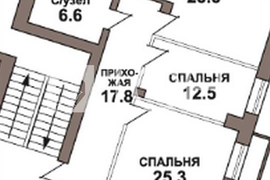 2-комнатная квартира, 90.7 м<sup>2</sup>, 4 этаж