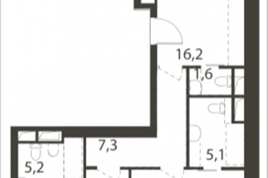 3-комнатная квартира, 117.9 м<sup>2</sup>, 7 этаж