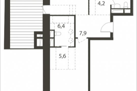 2-комнатная квартира, 115.4 м<sup>2</sup>, 7 этаж
