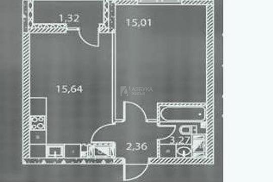 1-комн квартира, 37.6 м2, 7 этаж