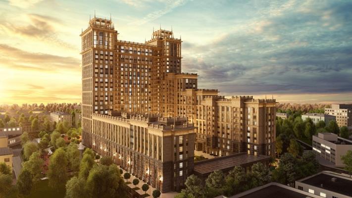 3-комн квартира, 128.2 м2, 13 этаж - фото 1
