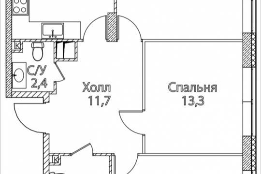 3-комнатная квартира, 81 м<sup>2</sup>, 12 этаж