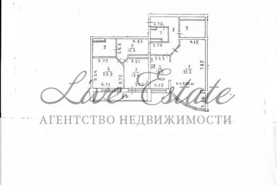 3-комнатная квартира, 173 м2, 26 этаж