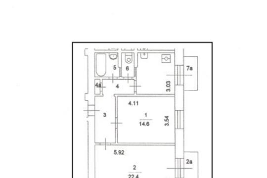 2-комнатная квартира, 60 м2, 5 этаж
