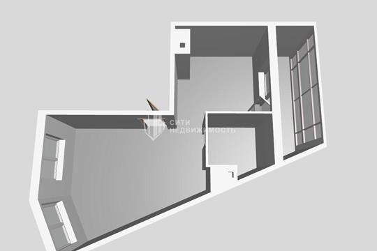 1-комнатная квартира, 44 м<sup>2</sup>, 8 этаж