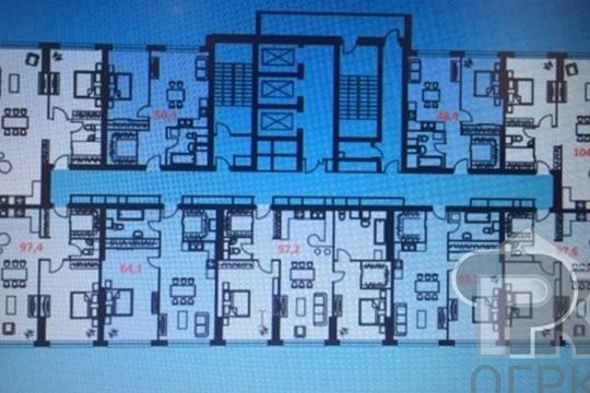 3-комн квартира, 105 м2, 31 этаж