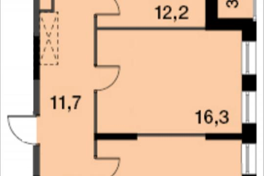 2-комнатная квартира, 61.2 м<sup>2</sup>, 11 этаж
