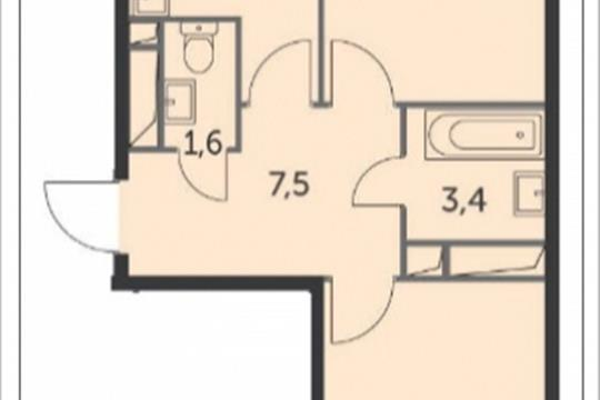 2-комнатная квартира, 54.9 м<sup>2</sup>, 10 этаж