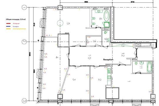 3-комн квартира, 219 м2, 20 этаж