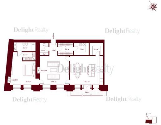 2-комн квартира, 136.4 м<sup>2</sup>, 4 этаж_1