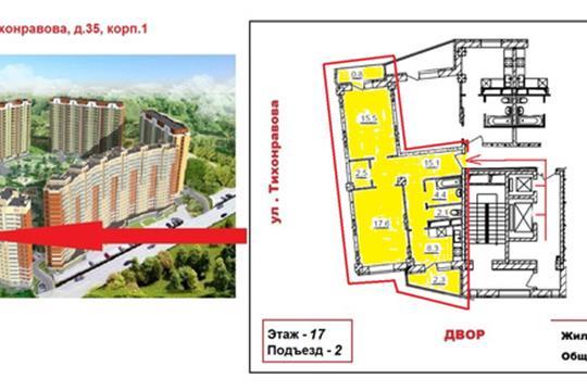 2-комнатная квартира, 68.7 м<sup>2</sup>, 17 этаж