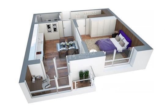 1-комнатная квартира, 38.9 м<sup>2</sup>, 15 этаж