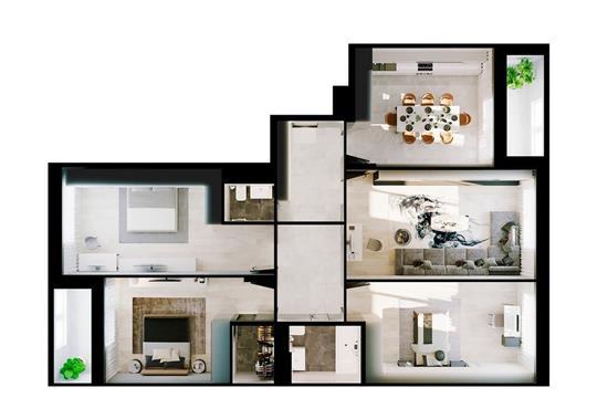 4-комнатная квартира, 111.97 м<sup>2</sup>, 5 этаж