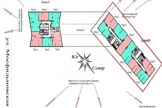 5-комнатная квартира, 242 м<sup>2</sup>, 35 этаж