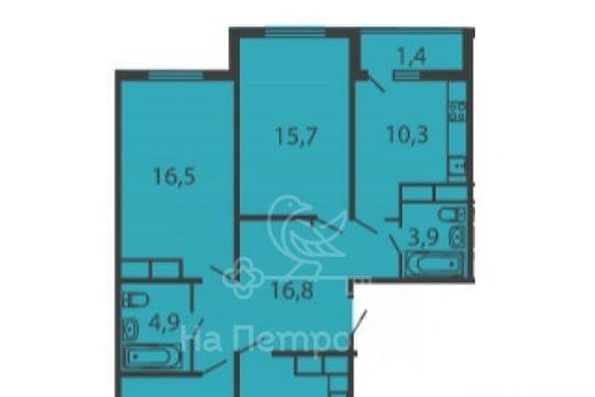 4-комнатная квартира, 98.8 м<sup>2</sup>, 16 этаж