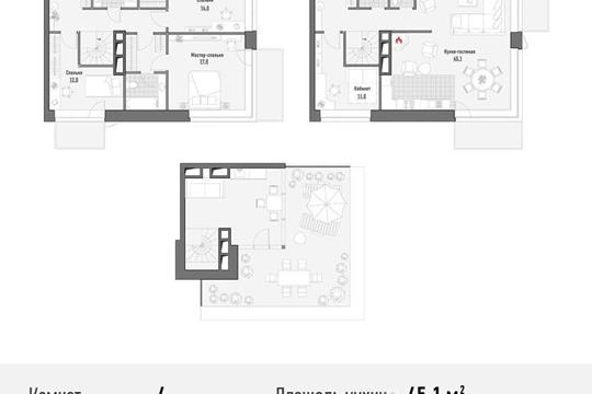 4-комнатная квартира, 180.26 м<sup>2</sup>, 20 этаж