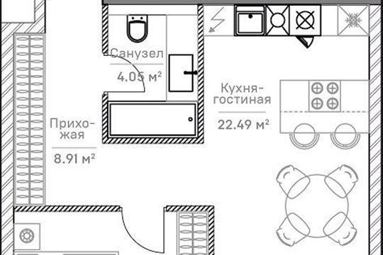2-комн квартира, 48.38 м<sup>2</sup>, 5 этаж_1