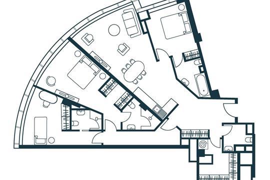 4-комнатная квартира, 115.43 м<sup>2</sup>, 3 этаж