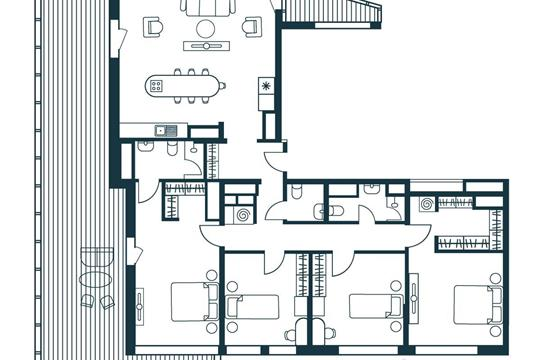 5-комнатная квартира, 176.57 м<sup>2</sup>, 10 этаж