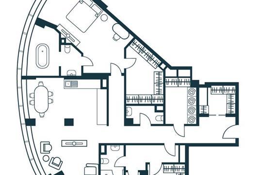 4-комнатная квартира, 141.34 м<sup>2</sup>, 2 этаж