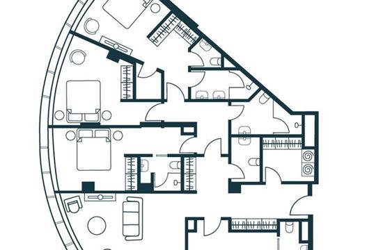 5-комнатная квартира, 152.16 м<sup>2</sup>, 17 этаж