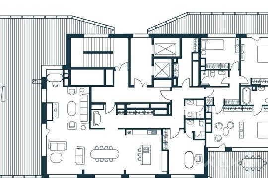 5-комнатная квартира, 246.29 м<sup>2</sup>, 11 этаж