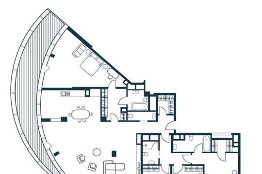 5-комнатная квартира, 212.9 м<sup>2</sup>, 19 этаж
