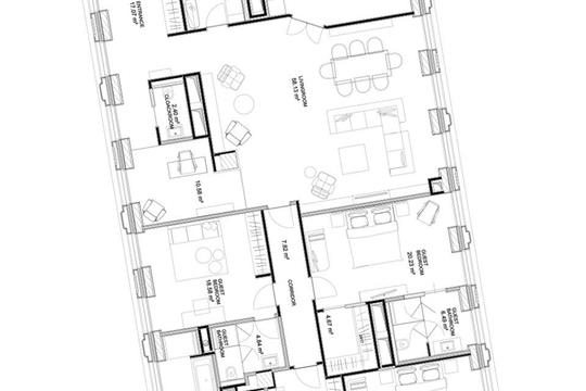 3-комнатная квартира, 219.7 м<sup>2</sup>, 6 этаж