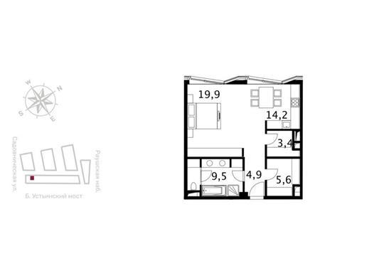 Студия, 60.5 м<sup>2</sup>, 4 этаж_1