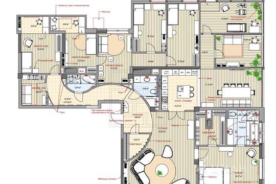 Многокомнатная квартира, 280 м<sup>2</sup>, 12 этаж