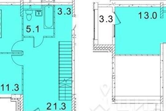 3-комнатная квартира, 89 м<sup>2</sup>, 3 этаж