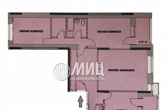 3-комнатная квартира, 91 м<sup>2</sup>, 1 этаж