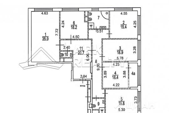 5-комнатная квартира, 189.3 м<sup>2</sup>, 15 этаж