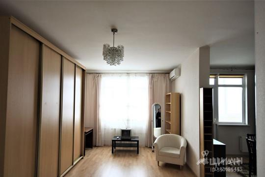 1-комнатная квартира, 45 м2, 28 этаж