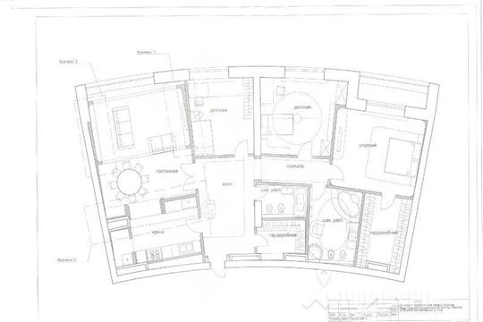 4-комнатная квартира, 193 м<sup>2</sup>, 15 этаж