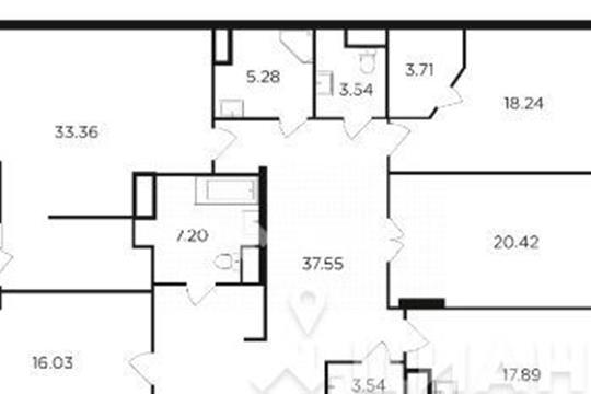 5-комнатная квартира, 168.11 м<sup>2</sup>, 20 этаж