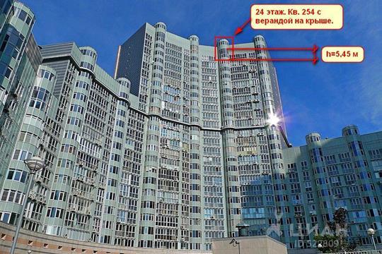 2-комнатная квартира, 117.4 м<sup>2</sup>, 24 этаж