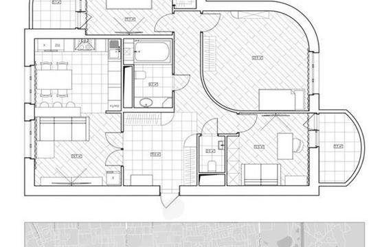 3-комнатная квартира, 102 м2, 2 этаж