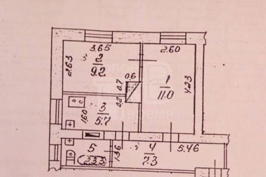 2-комн квартира, 36.4 м2, 1 этаж