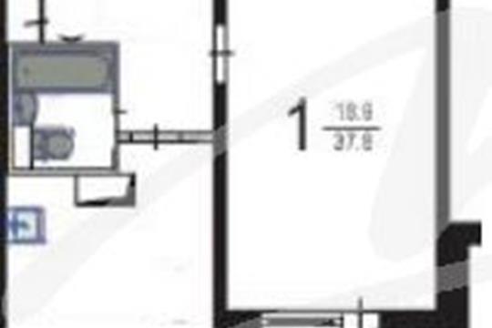 1-комнатная квартира, 40 м2, 4 этаж