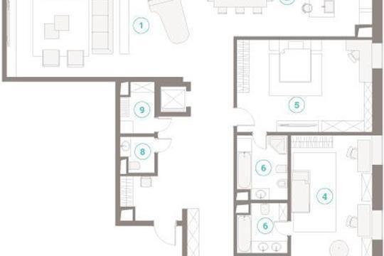 Многокомнатная квартира, 299.03 м<sup>2</sup>, 7 этаж