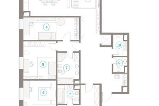 5-комнатная квартира, 261.79 м<sup>2</sup>, 7 этаж