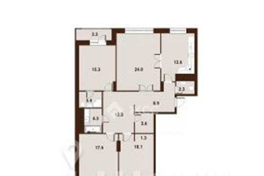 4-комнатная квартира, 128.4 м<sup>2</sup>, 4 этаж