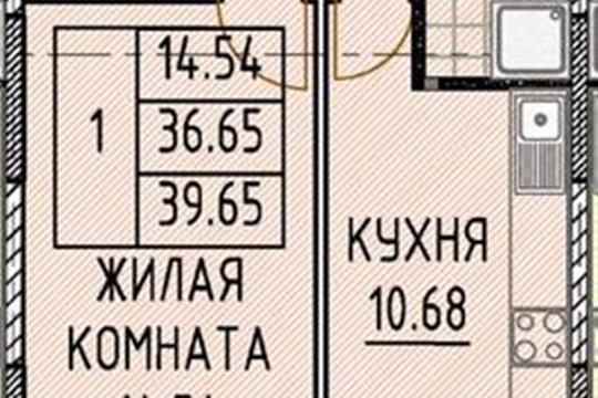 Студия, 29.5 м2, 8 этаж