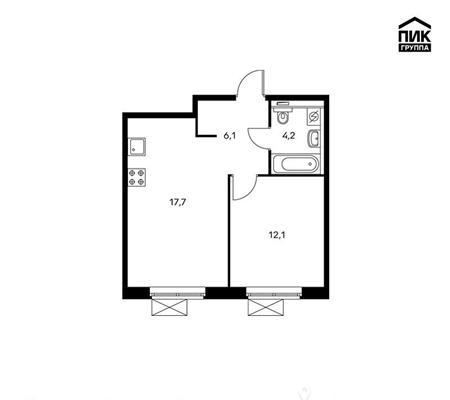 1-комнатная квартира, 40.1 м<sup>2</sup>, 14 этаж_1