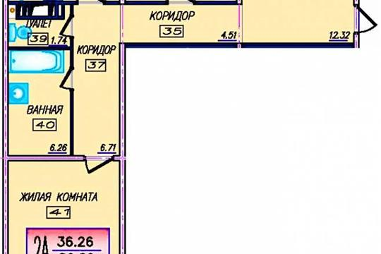2-комнатная квартира, 86 м<sup>2</sup>, 8 этаж