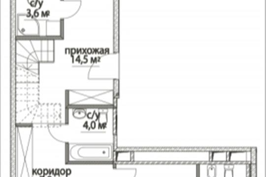 3-комнатная квартира, 131.92 м<sup>2</sup>, 13 этаж
